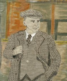 image of detail of the boys go to london town - work in progress  from the Amazing Sue Stone.