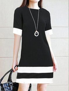 Round Neck Color Block Shift Dress fall fashion trends fashion trends Street Style,fall fashion trends Casual,fall fashion trends Scarfs,fall fashion trends Classy,fall fashion trends For Women Over fashion trends Over Stylish Dresses, Casual Dresses, Fashion Dresses, Dresses For Work, Cheap Dresses Online, Autumn Fashion Casual, Casual Fall, Luxury Dress, Ideias Fashion