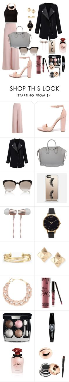 """Colloquio di lavoro"" by libardieleonora ❤ liked on Polyvore featuring Zimmermann, Steve Madden, Givenchy, Christian Dior, Casetify, Cynthia Rowley, Olivia Burton, Stella & Dot, Valentino and DIANA BROUSSARD"