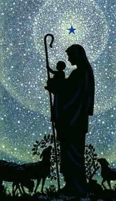 Silent Night, Holy Night One of my fave Christmas song Blessed Mother Mary, Blessed Virgin Mary, Blue Christmas, Christmas Images, Merry Christmas, Mama Mary, Mary And Jesus, Art Et Illustration, Madonna And Child
