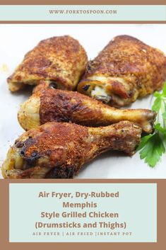 AIR FRYER, DRY-RUBBED MEMPHIS STYLE GRILLED CHICKEN (DRUMSTICKS AND THIGHS) air fryer dry rub chicken wings recipe dry rub chicken breast air fryer ranch dry rub wings in air fryer non spicy dry rub for chicken wings smoked air fryer wings turkey wings recipe for air fryer what is memphis-style chicken cook's country bbq drumsticks memphis style fried chicken memphis dry rub chicken sweet memphis bbq rub smoked chicken rubs recipes memphis chicken dry rub smoked chicken mustard rub central…