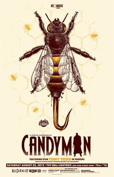 Horror Movie Poster Art : Candyman, 1992, by Justin Erickson