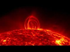 NASA SDO - Fiery Looping Rain on the Sun