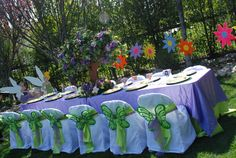"""Photo 4 of Pixie Fairy / Birthday """"Enchanted Fairy land"""" Fairy Birthday Party, 6th Birthday Parties, Decoracion Baby Shower Niña, Fairy Baby Showers, Fairy Tea Parties, Tinkerbell Party, Party Themes, Party Ideas, Decoration Table"""
