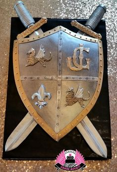 Shield & Swords - Cake by Cakes ROCK!!!