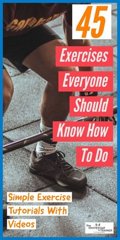 Discover 45 exercises that you should know how to do to improve your fitness. All exercise tutorials are complete with photos, videos, and other key tips so that you can add them to your next workout Men's Workout Plans, Best Gym Workout, Workout Routine For Men, Workout Plan For Beginners, Workout Men, Exercise Routines, Fit Board Workouts, Easy Workouts, Workout Planner