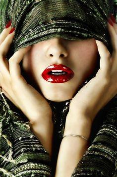 lovely #red #lips