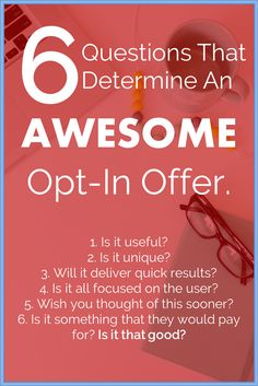 Create an Awesome Opt In