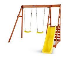 Plum Tamarin Wooden Swing Set #plumplay #activitycentre #swingset #woodndreamsuk #slide #swings #woodenoutdoorplay