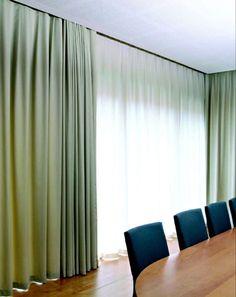 Kolejnice, garnýže Mottura Curtains, Home Decor, Blinds, Decoration Home, Room Decor, Interior Design, Draping, Home Interiors, Net Curtains