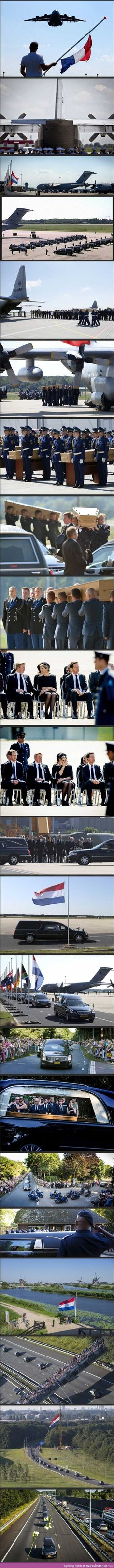 Dutch pay tribute to the victims of MH17