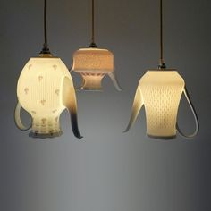 Dutch Etsy shop Upservies has created a very nice pendant collection made out of upcycling vintage Chinaware cups and coffee- and teapots