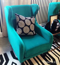 Add a pop of colour with a bold reading chair | HomeSense