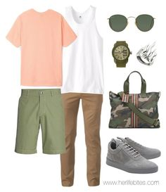 """Pastels for men 2.0"" by caritoviena on Polyvore featuring Valentino, Urban Pipeline, Russell Athletic, Stussy, Bogner, Filling Pieces, Ray-Ban, Diesel, Cantini MC Firenze and men's fashion"