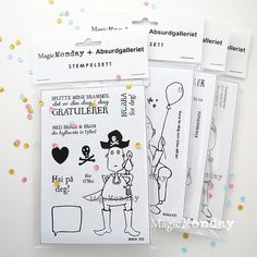 Andrine og Marens Landhandleri - Blog - Stampsets from MagicMonday + Absurdgalleriet. http://www.anma.no