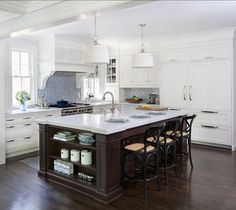 white & black kitchen design with white kitchen cabinets, black