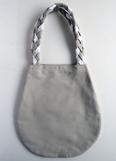 Molly's Sketchbook: Braided Handle Canvas Tote