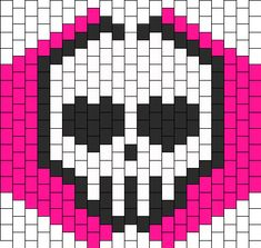 Skull Heart Eyes Mask bead pattern