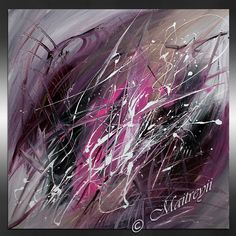 ABSTRACT Art Contemporary Painting Artwork BURGUNDY PURPLE Pink Drip Art Huge Painting Acrylic Palette Knife Oversize canvas    More paintings