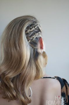 Rocker braid hair | rocker braid | hair and makeup