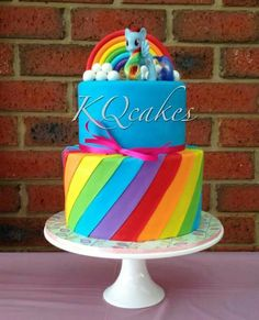 My Little Pony Birthday Cake Rainbow Dash Party, Cumpleaños Rainbow Dash, Rainbow Dash Birthday, My Little Pony Birthday Party, Cake Rainbow, Anniversaire My Little Pony, My Little Pony Cumpleaños, Celebration Cakes, Party Cakes