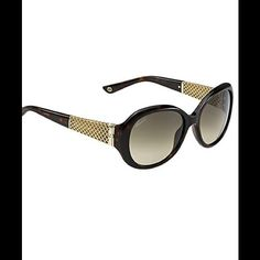 Gucci Sunglasses Model 3693 New authentic Gucci sunglasses brown with gold detailing on the sides. Come with collapsible Gucci case and certificate of authentication. Brand new and never worn. Gucci Accessories Sunglasses