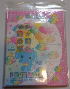 stationary LOVE MAIL Elephant Heart Stationery Note Envelop Stickers Letter Set
