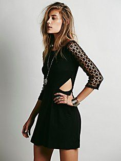 Life in the Fast Lane Cutout Dress - via Free People