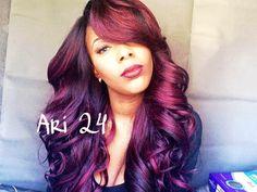 Zury Sis Ari 24 Lace Wig (Sombre RT Burgundy)