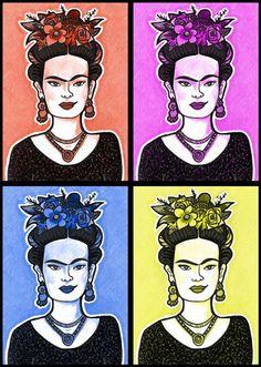 Pop Art Frida Kahlo- d'après un dessin original de Pénélope Bagieu
