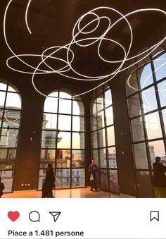 """Museo del Novecento Sala Fontana """"Opera di Luce"""" di Lucio Fontana - realizzazione al neon by CLOD"""