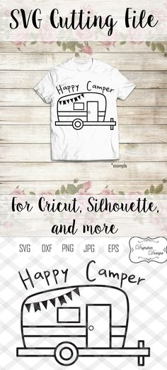 happy camper svg, camping svg, summer svg, happy camper shirt, camper decor, happy campers, dxf, printable, cricut, silhouette, vector by DigitalistDesigns on Etsy