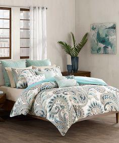 Love this Blue Paisley Comforter Set on #zulily! #zulilyfinds