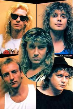 Phil Collen, Rick Savage, Joe Elliott, Def Leppard, Rock Music, Cool Bands, Rock Rock, Drop, Rock