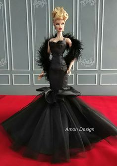 12.14.3  Amon Design Gown Outfit Dress Fashion Royalty Silkstone Barbie Model Doll FR #AmonDesign