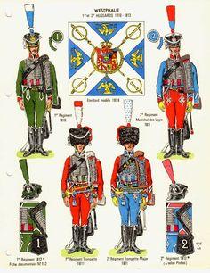 Westphalia 1st & 2nd Hussar Regt. 1810-13