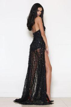 Abyss Casino Royale Dress (Black) (Pre Order) - Kourvosieur - 1