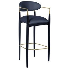 For Sale on - Try not to get handsy with the flirty and modern design of the Nahe´ma bar stool. Her sweet seat and contemporary detached back are bound by a metal and Oak Bar Stools, Kitchen Stools, Kitchen Decor, Kitchen Design, Eames Chairs, Bar Chairs, High Chairs, Room Chairs, Desk Chairs