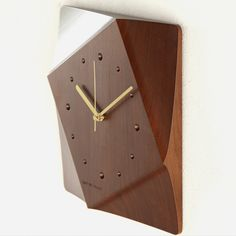 nice wood clock | collection cosine (cosine collection) cut out clock Walnut wood ...