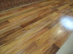 painted cement floor | fake wood floor painted on cement I gotta do this! would look great for the front porch too!