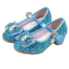 68c6d681420def Mädchen Schuhe PU Frühling Sommer Pumps High Heels Kristall   Schleife für  Silber   Blau
