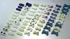 Protótipos do gamepad do PS. Muitos testes até chegar ao modelo final - que é um primor de ergonomia.