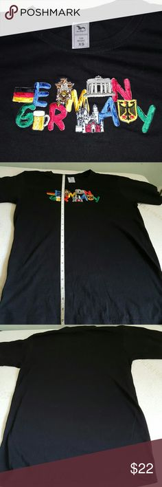 embroidered t-shirt Germany boys multi XS Purchased in Munich. My son wore it twice. Cool embroidery at the front. Will fit 10-12 y.o. 26 inch long. 17 inch across chest (one side). Adler Shirts & Tops Tees - Short Sleeve