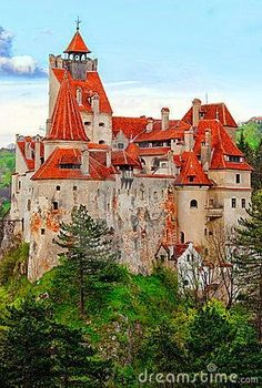 Bran Castle, near Brasov, is a national monument and landmark in Romania. The medieval fortress is on the border between Transylvania and Wallachia and is commonly known as Draculas Castle. Places Around The World, The Places Youll Go, Places To See, Around The Worlds, Beautiful Castles, Beautiful Buildings, Beautiful Places, Beautiful Beautiful, Wonderful Places