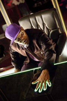 Samuel L. Jackson as Valentine in Kingsman: The Secret Service.