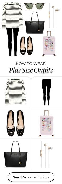 """""""Untitled #2194"""" by aliciabadrick on Polyvore featuring Ted Baker, J.Crew, Charlotte Olympia, MICHAEL Michael Kors and Ray-Ban"""