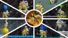 New Super Mario Bros. Wii - All Bosses Super Mario Bros, Wii