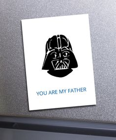 Whether youre a Star Wars fan or just enjoy a little giggle, youll love this humorous illustrated Fathers Day Card. Would also be great to use as a