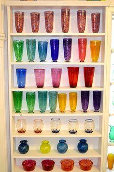 glassblowing shop, gorgeous rainbows