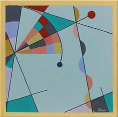 Mid Century Modern Art | Details about PAINTING MID CENTURY MODERN ART EAMES ERA RETRO ABSTRACT ...